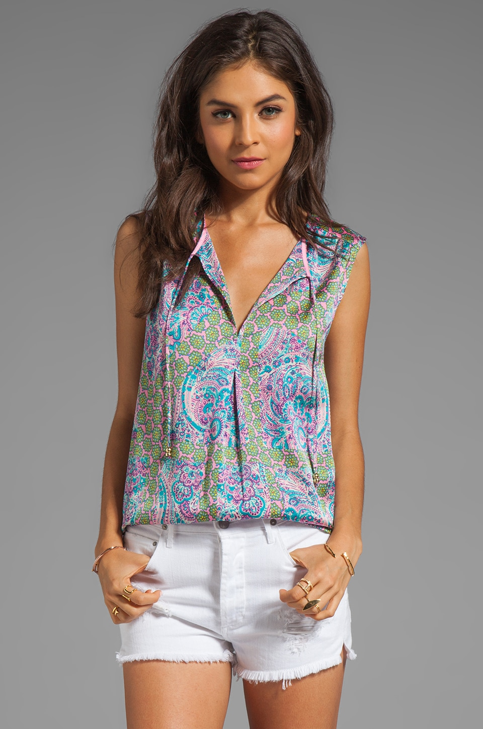 Juicy Couture Imperial Starflower Tank in Bardot