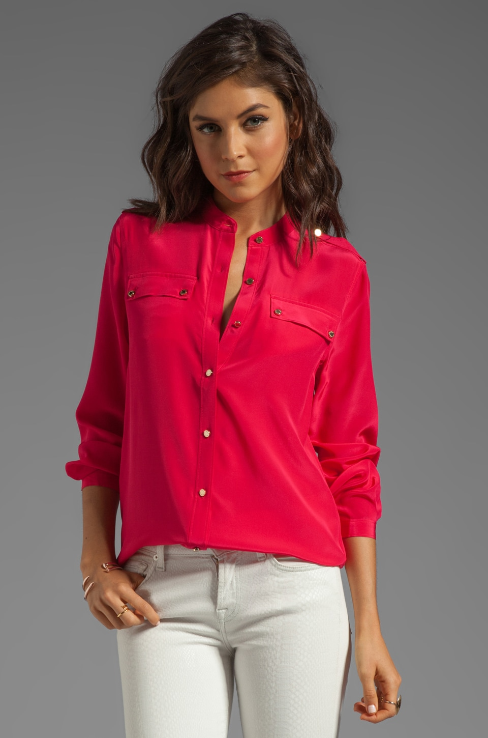 Juicy Couture Boho Dressing Blouse in Hot Cyclamen