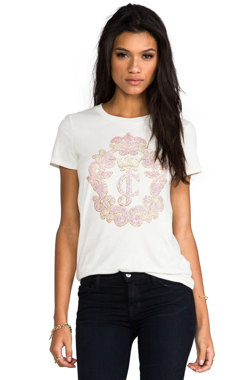 Juicy Couture Crown Cameo Top in Angel