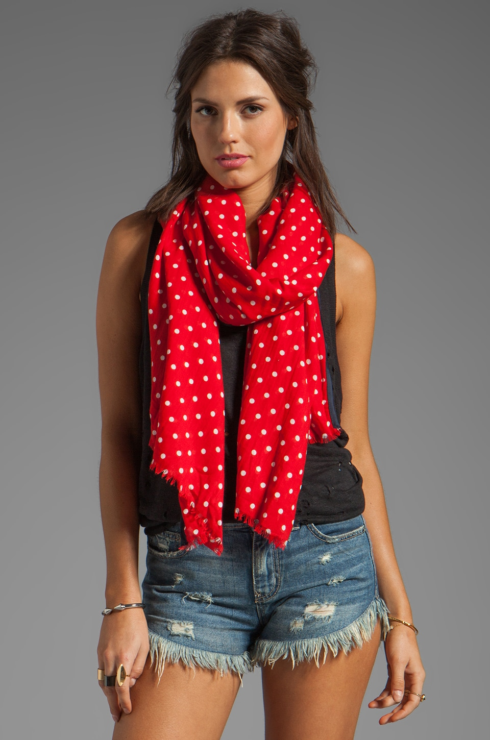 Juicy Couture Glorious Dot Scarf in Cordial
