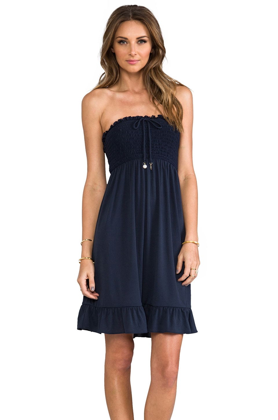 Juicy Couture Bow Chic Cover Up Dress in Regal