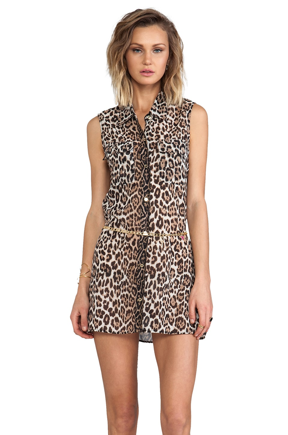 Juicy Couture Luxe Leopard Cover Up Dress in Angel
