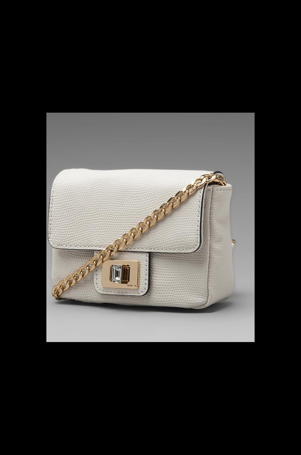 Juicy Couture Emblazon Leather Mini G in Optic White