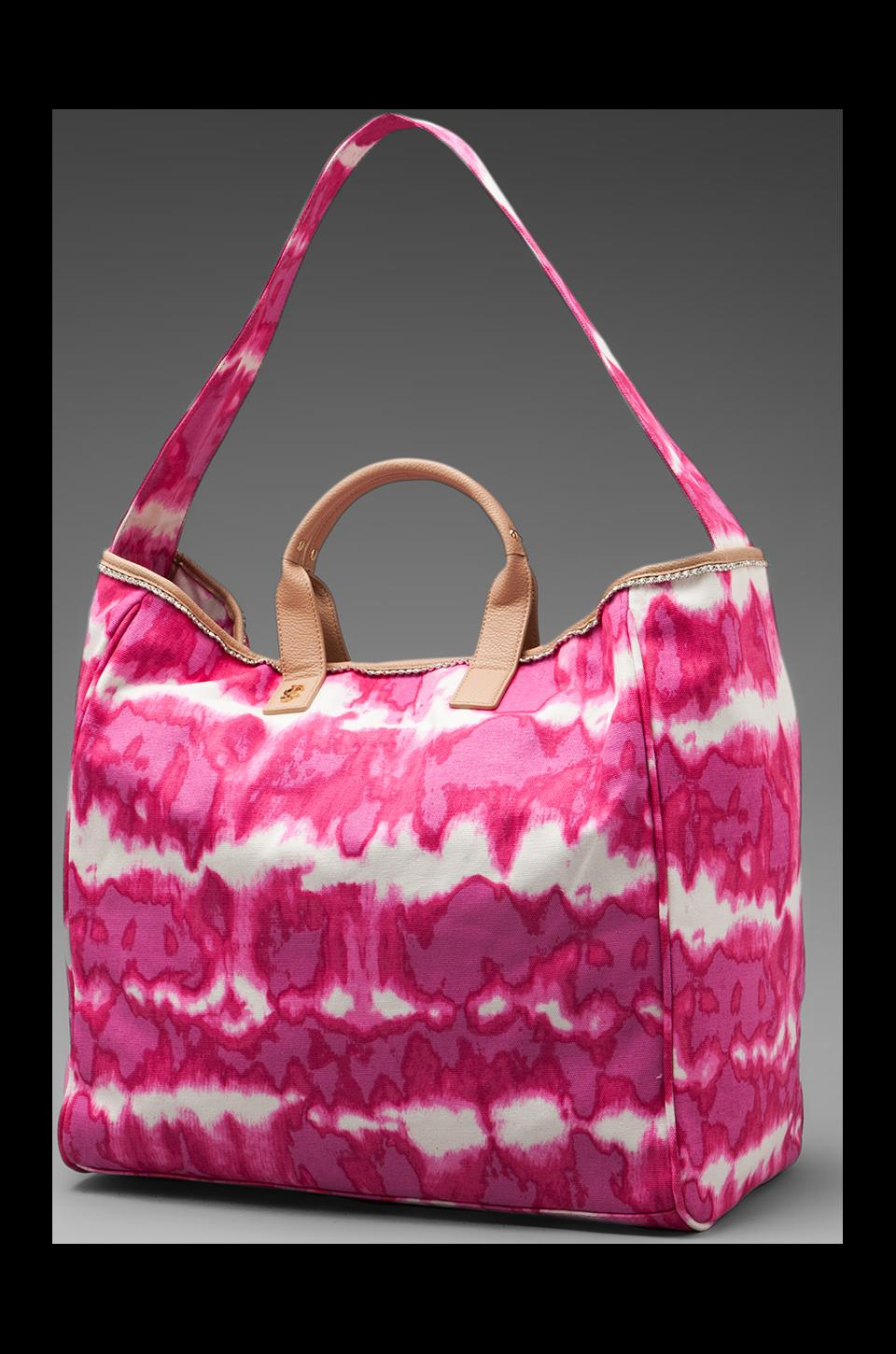 Juicy Couture Tie Dye Beach Tote in Dragonfruit