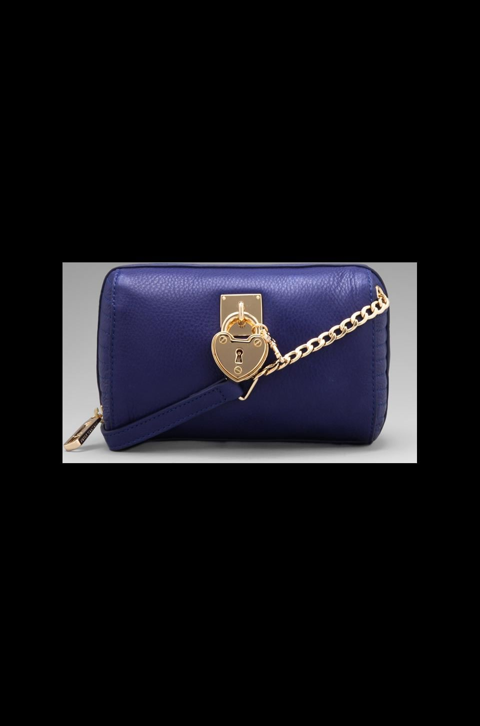 Juicy Couture Signature Leather Mini Steffy in Avery Blue