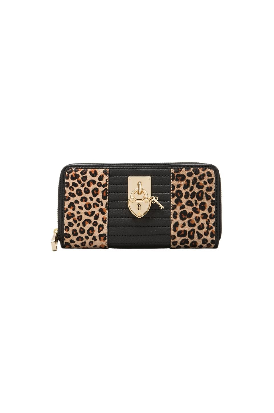 Juicy Couture Continental Zip Wallet in Natural Leopard