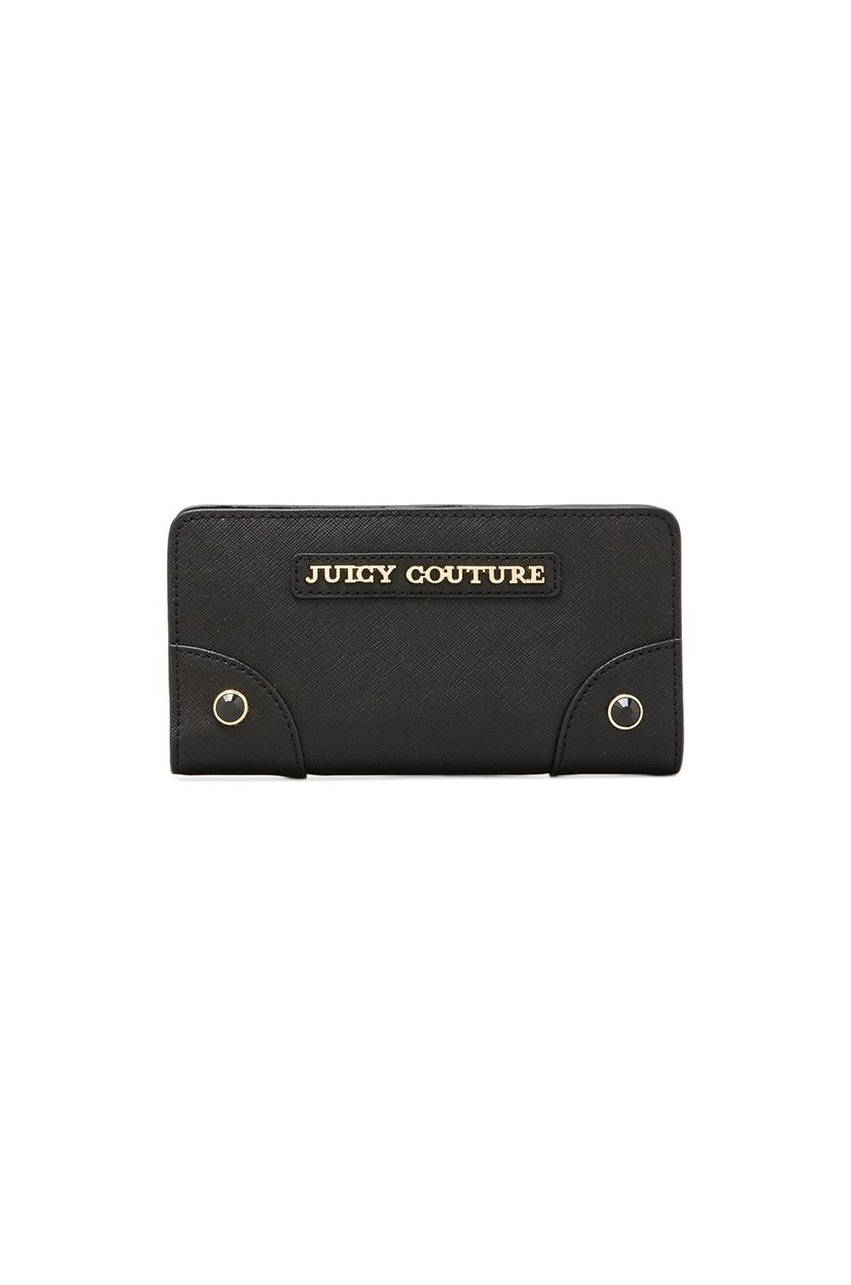 Juicy Couture Continental Zip Wallet in Black