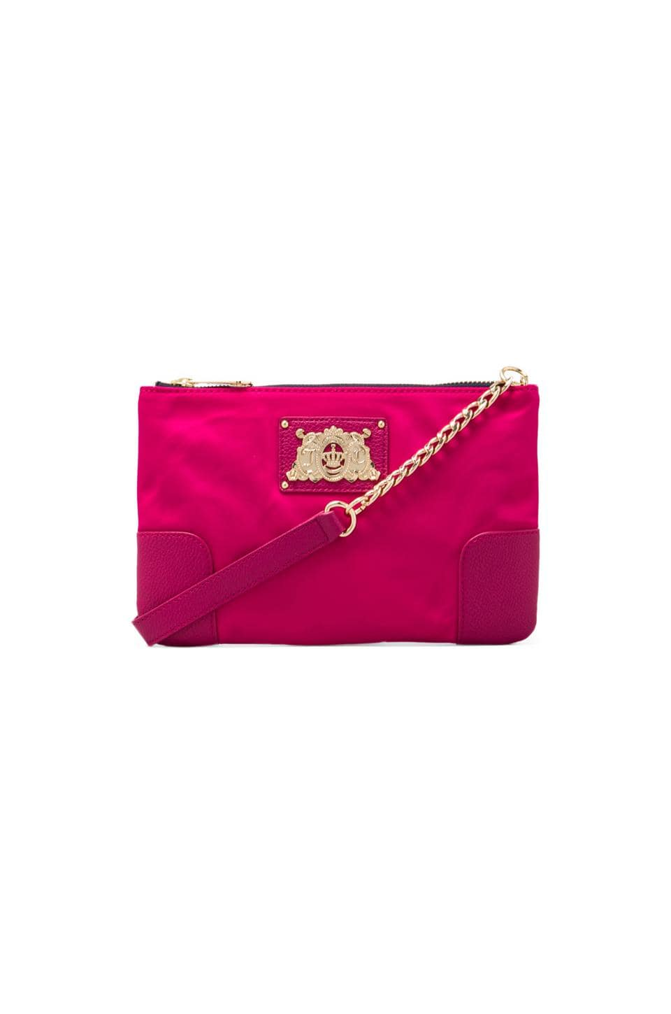 Juicy Couture Malibu Nylon Flat Crossbody in Hot Pink