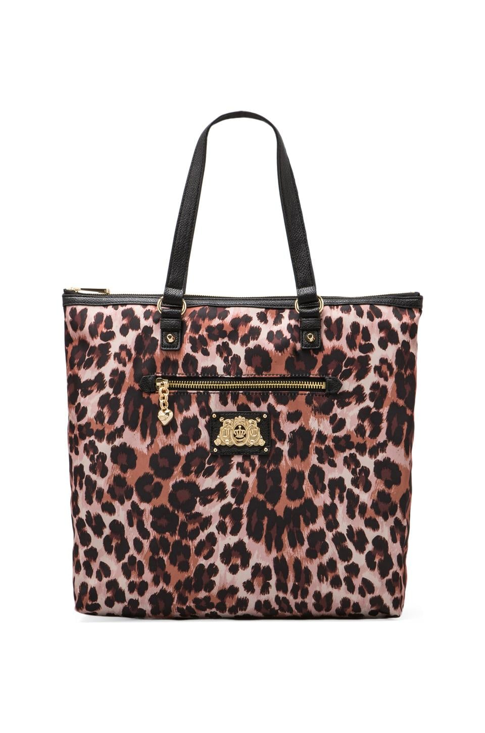 Juicy Couture Malibu Nylon Tote in Brown Leopard
