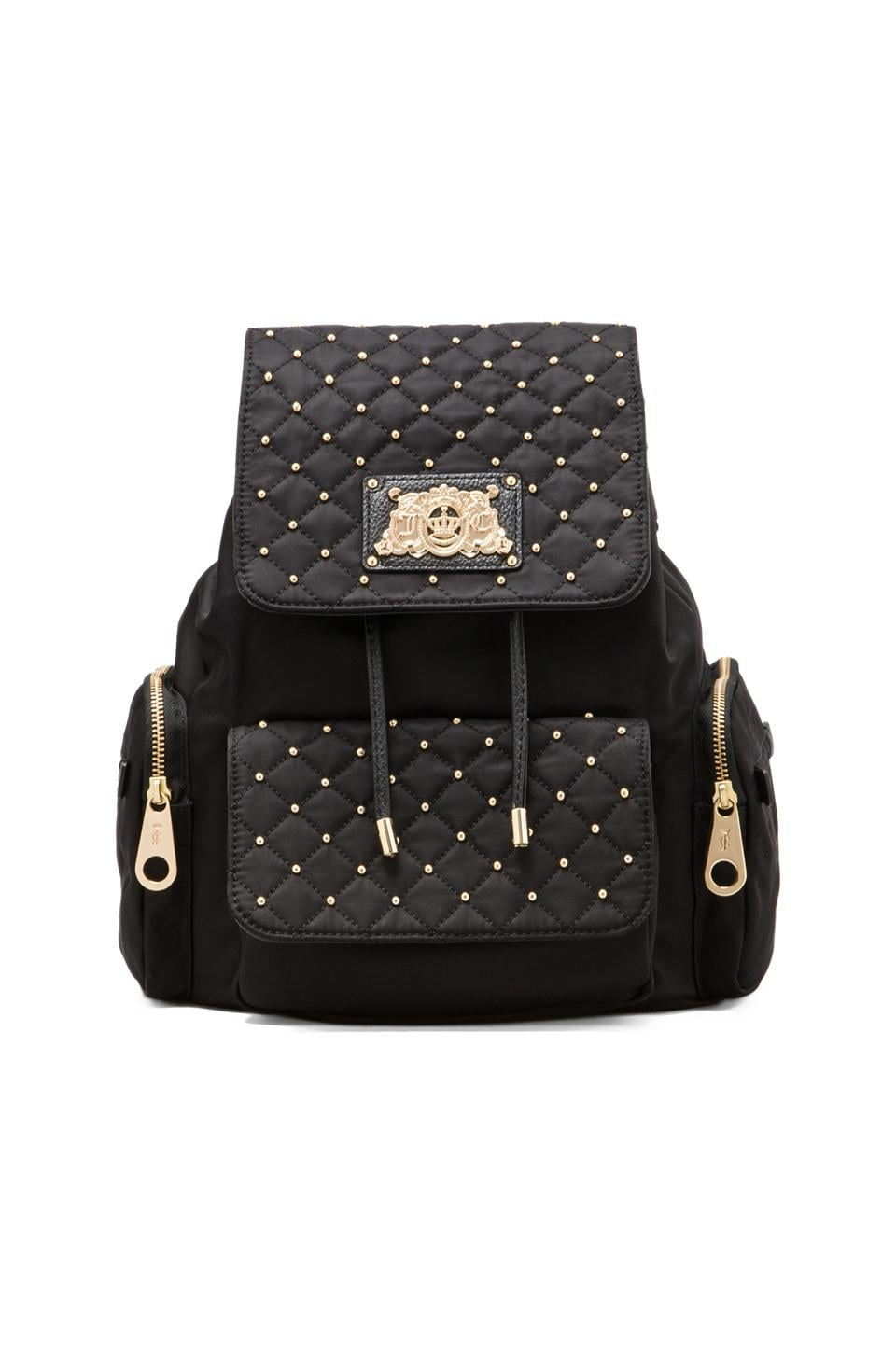 Juicy Couture Venice Quilted Nylon Backpack in Black