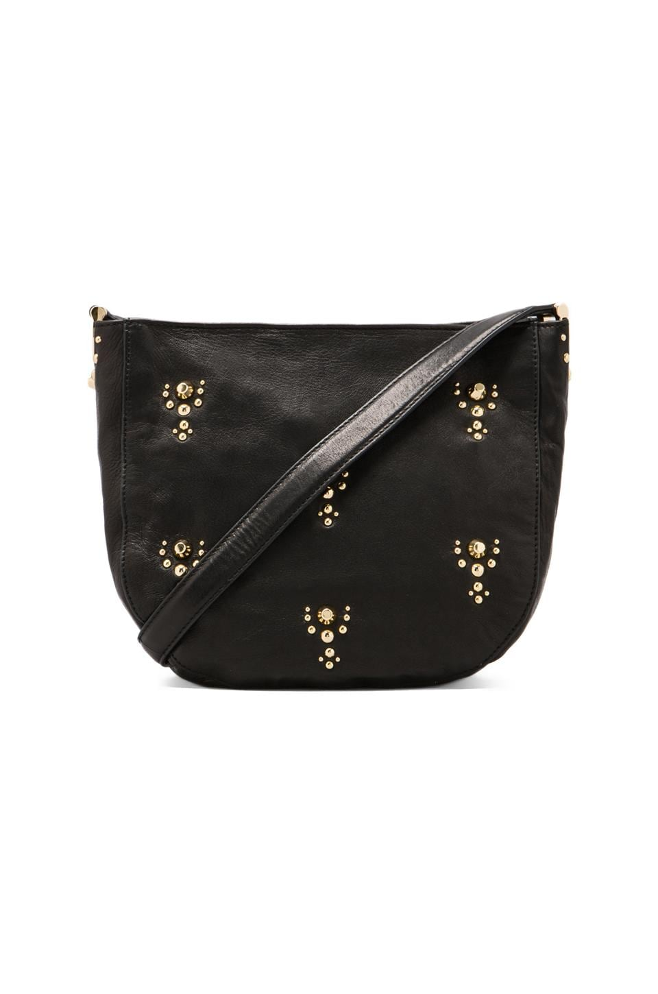 Juicy Couture Topanga Leather Crossbody Bag in Black