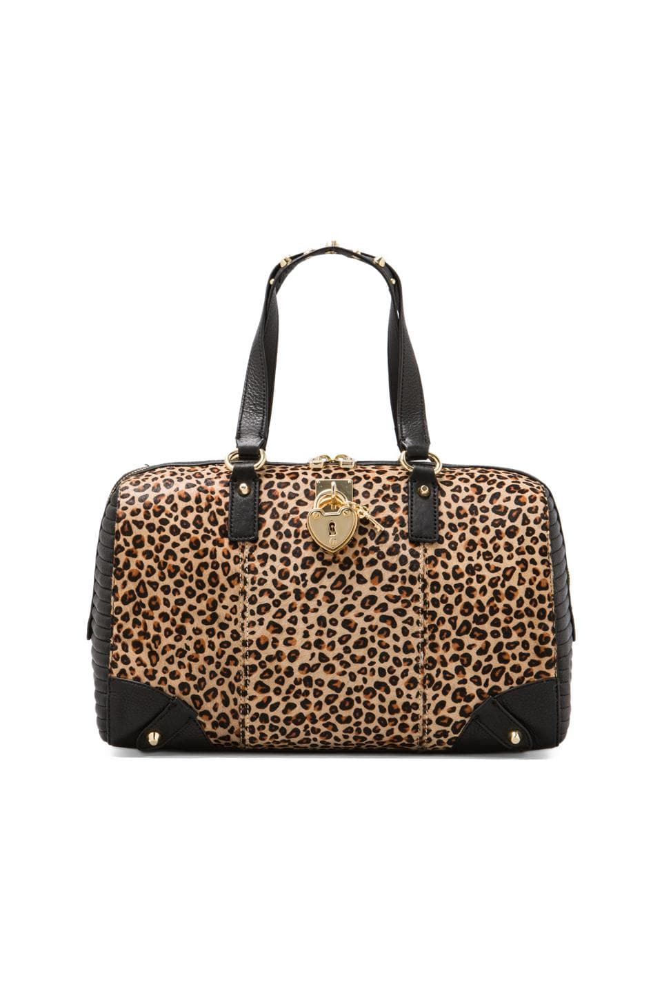Juicy Couture Robertson Haircalf Steffy Tote in Natural Leopard