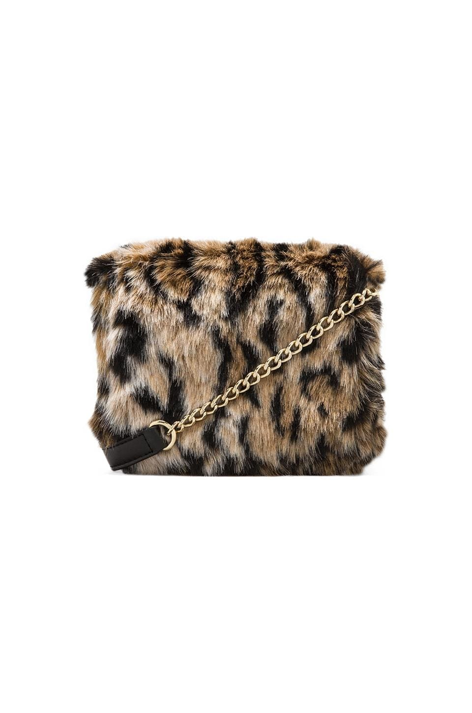 Juicy Couture Hollywood Hills Faux Fur Mini G in Leopard