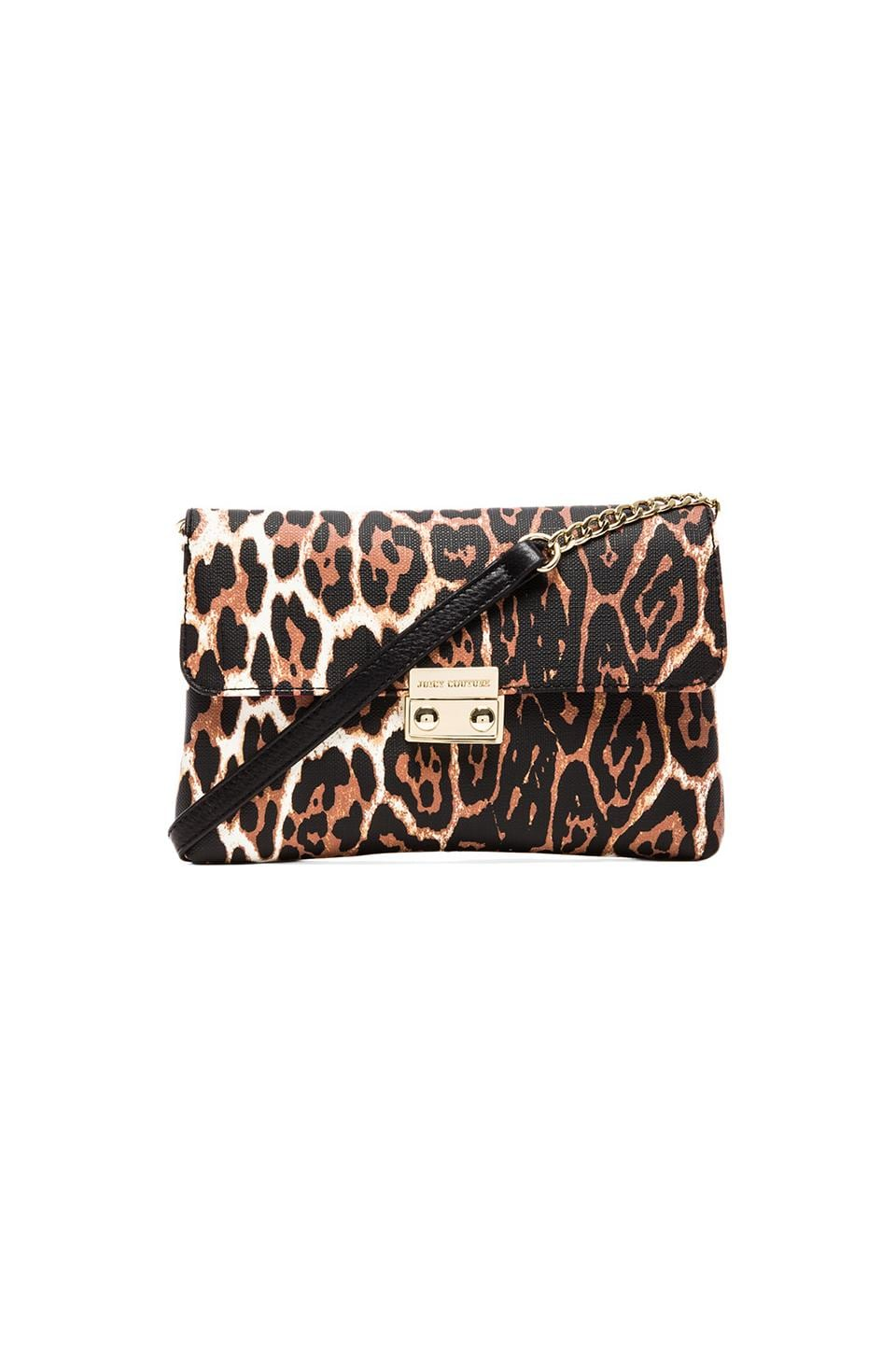 Juicy Couture Coldwater Coated Crossbody in Leopard