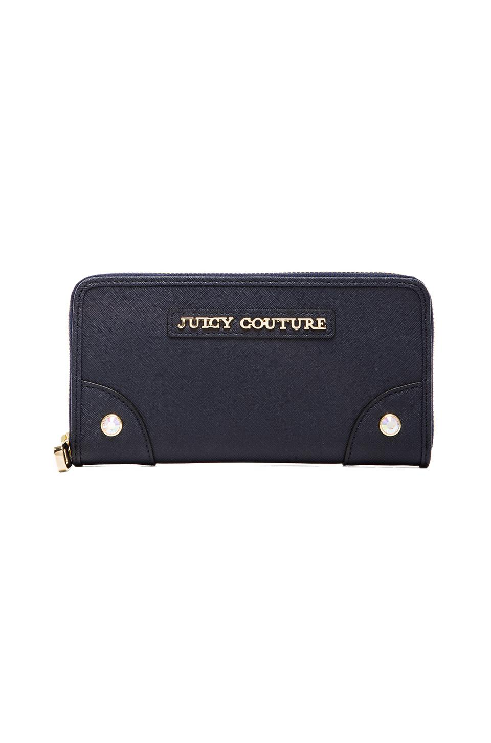 Juicy Couture Sophia Collection Continental Zip Wallet in Regal