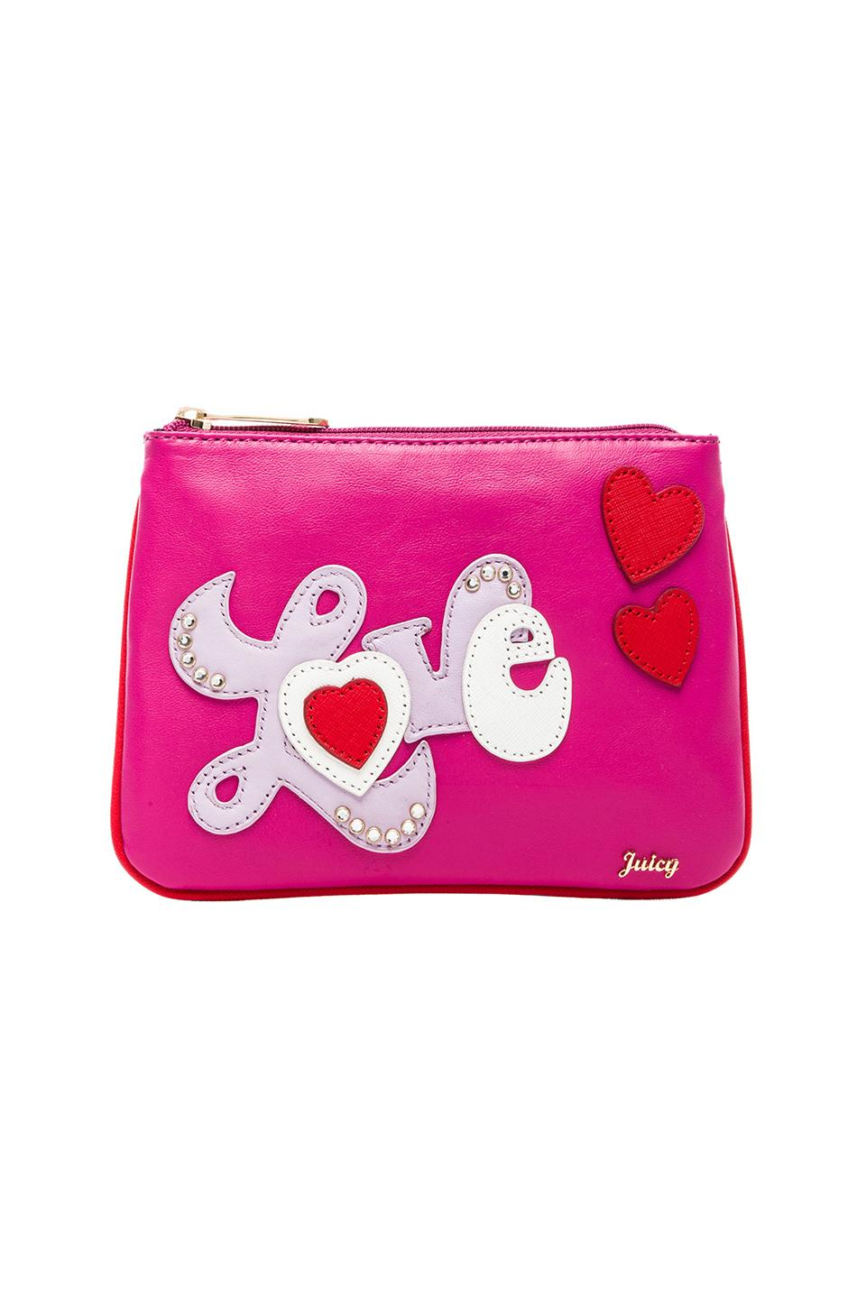 Juicy Couture Juicy in Love Pouch in Cashmere Rose