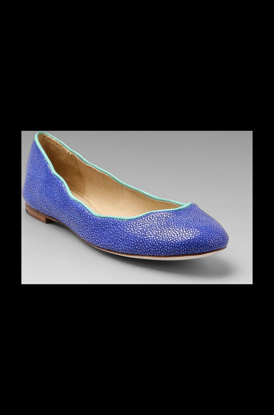 Juicy Couture Jailyn Flat in Bright Blue Stingray