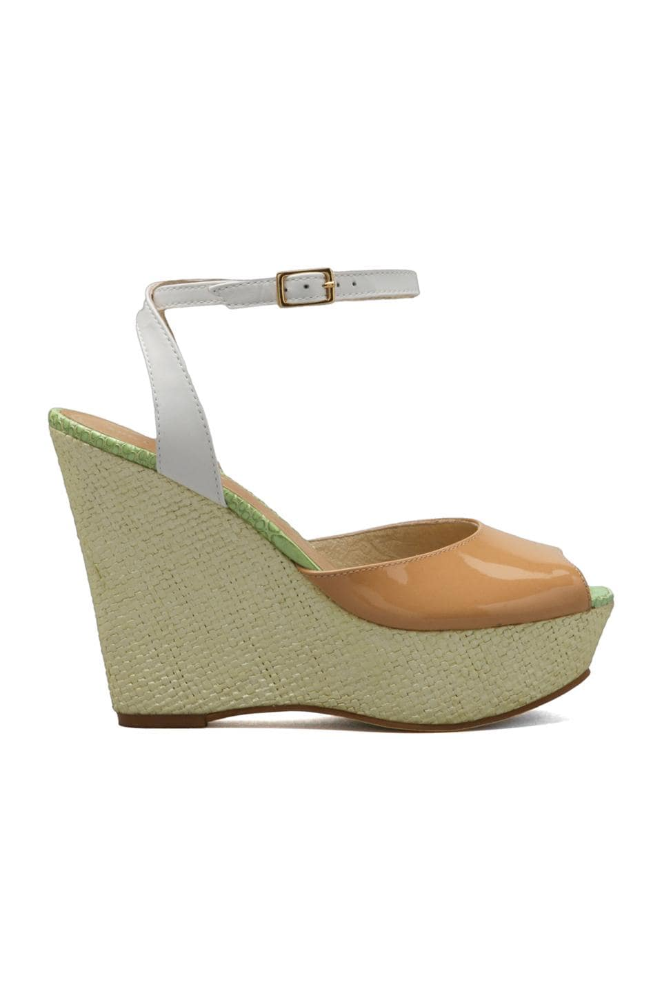 Juicy Couture Dafne Wedge in Natural/White
