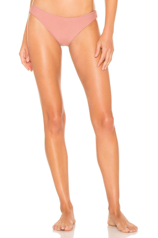 Juillet Blohm Bikini Bottom in Rose Dawn Ribbed