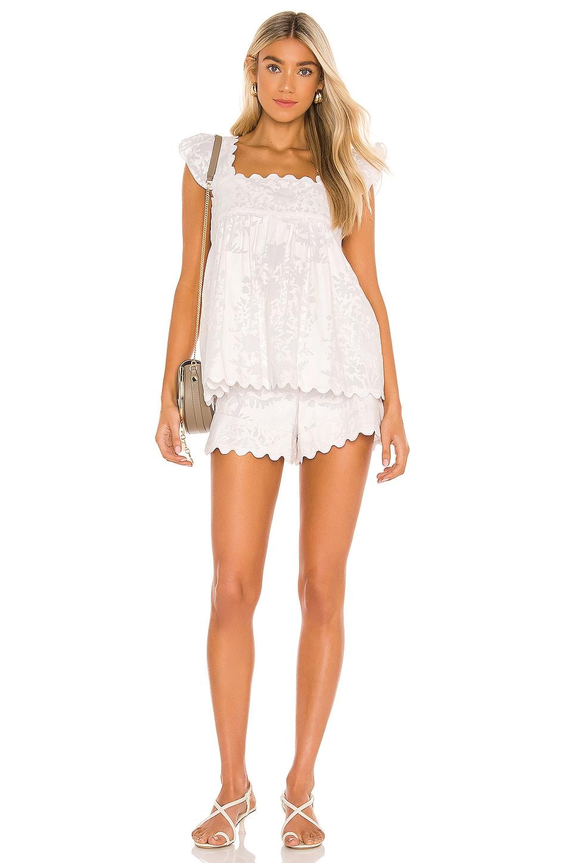 juliet dunn High Waist Short in White