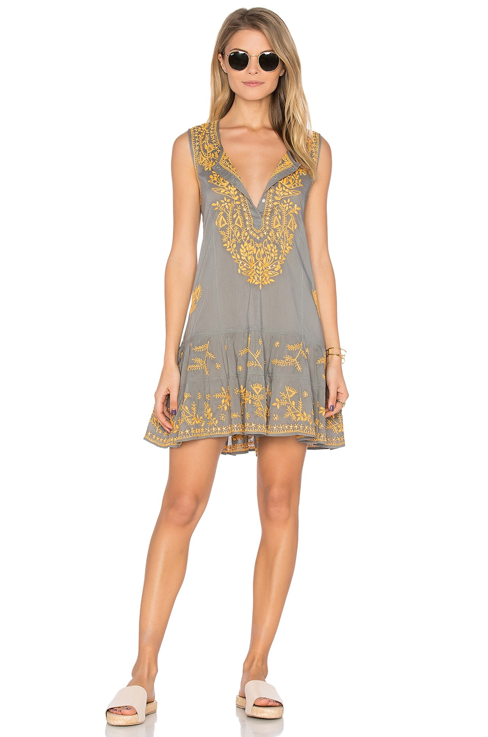 Sleeveless Shift Beach Dress by Juliet Dunn