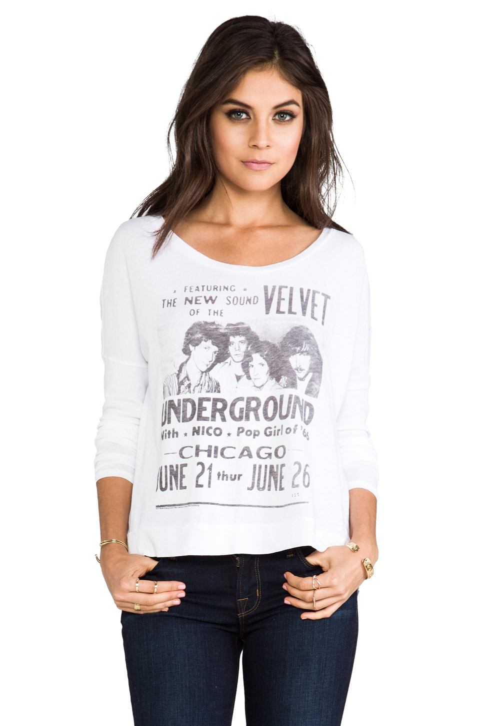 Junk Food Velvet Underground Eclipse Tee in Electric White