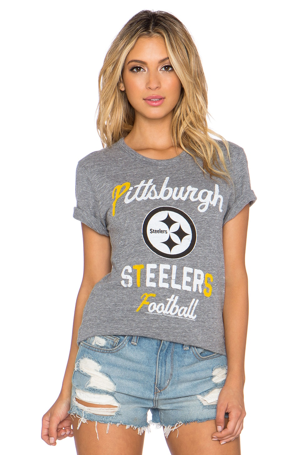 Junk Food Steelers Touchdown Tee in Steel