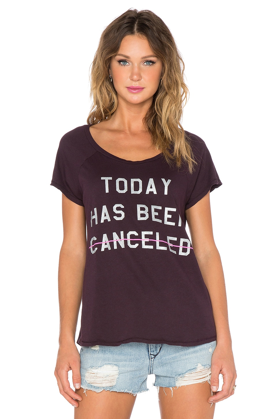 Junk Food Today Has Been Canceled Tee in Black Rasin