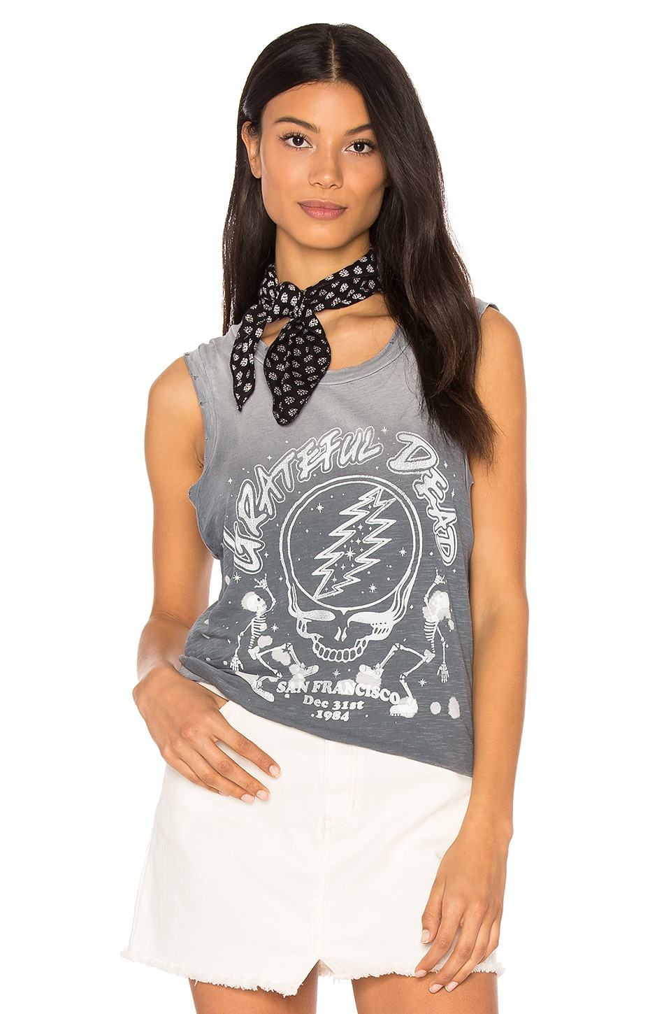 Junk Food Grateful Dead Tank in Shadow