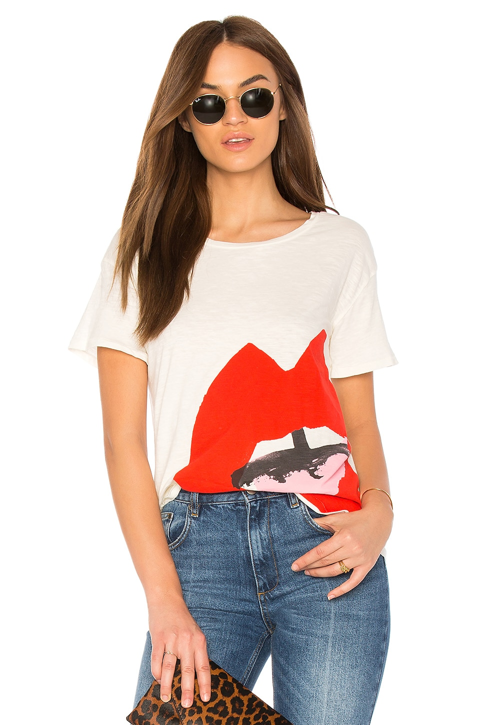 Junk Food DONALD ROBERTSON OPEN MOUTH TEE