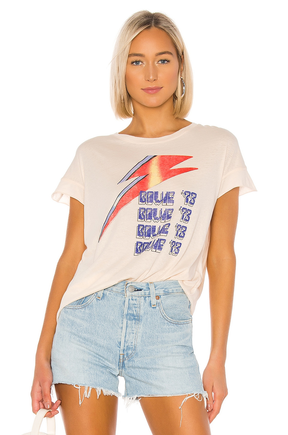 Junk Food Bowie 73 Tee in Bare