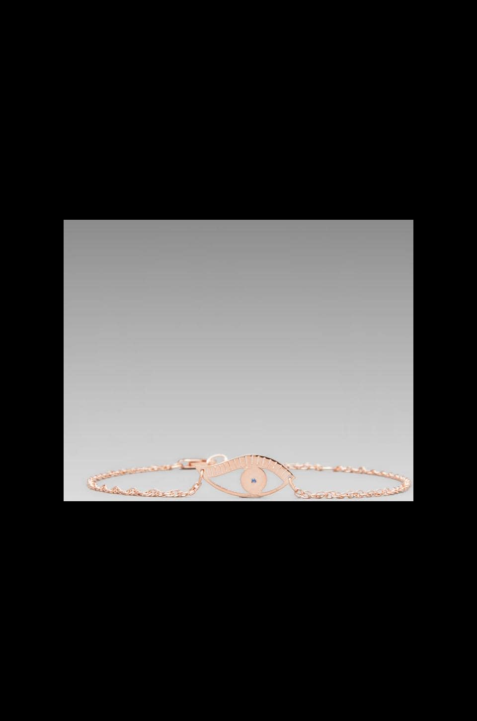 Jennifer Zeuner Evil Eye Bracelet in Rosegold