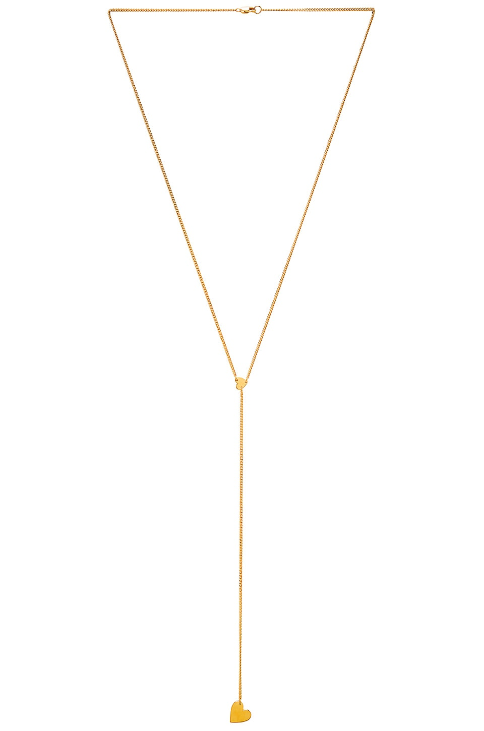 Jennifer Zeuner COLLIER LARIAT DOUBLE CŒUR