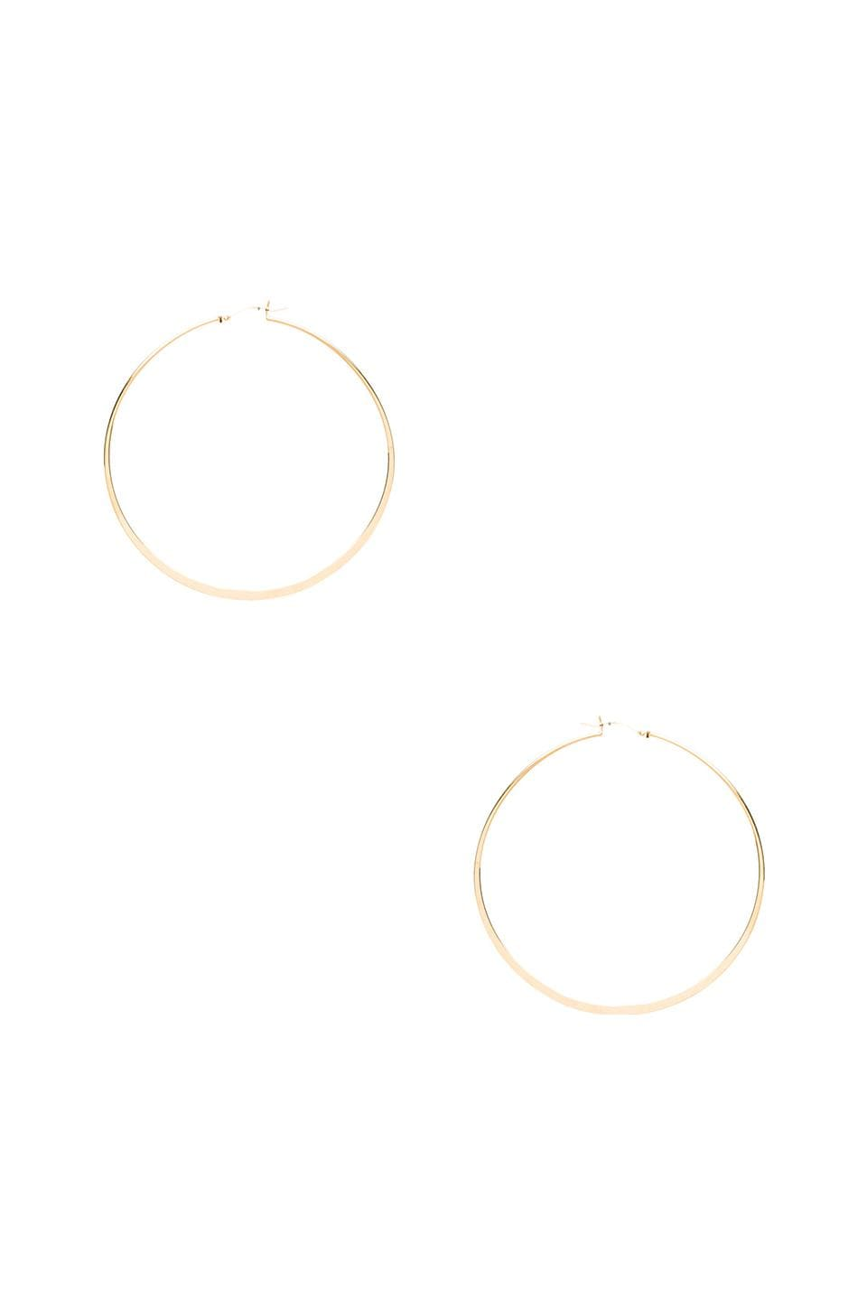 Jennifer Zeuner Olivia Hoop Earrings in Yellow