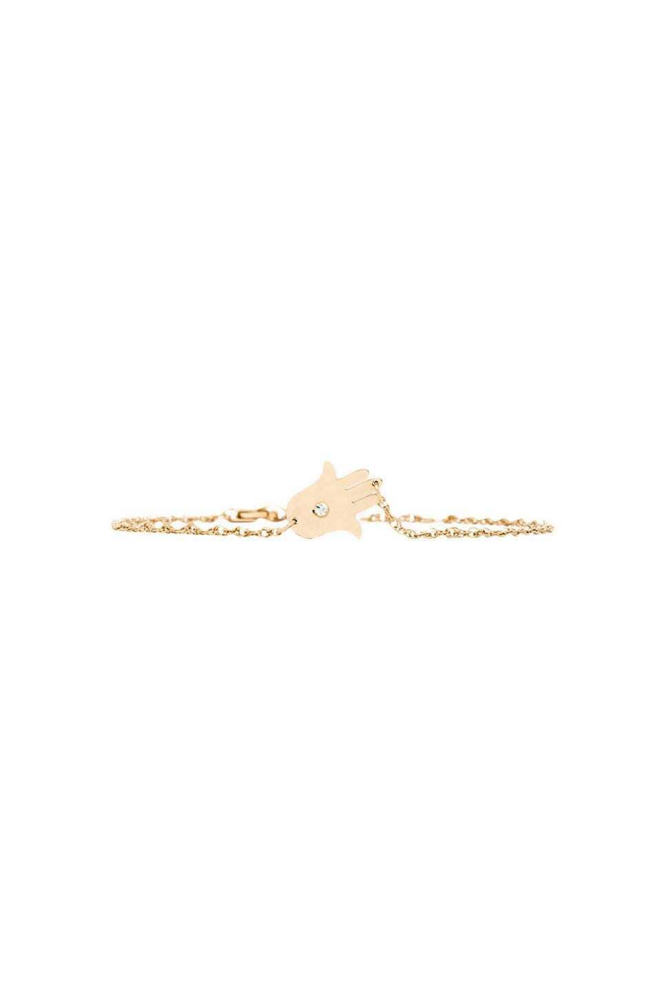 Jennifer Zeuner Hamsa Bracelet in Gold