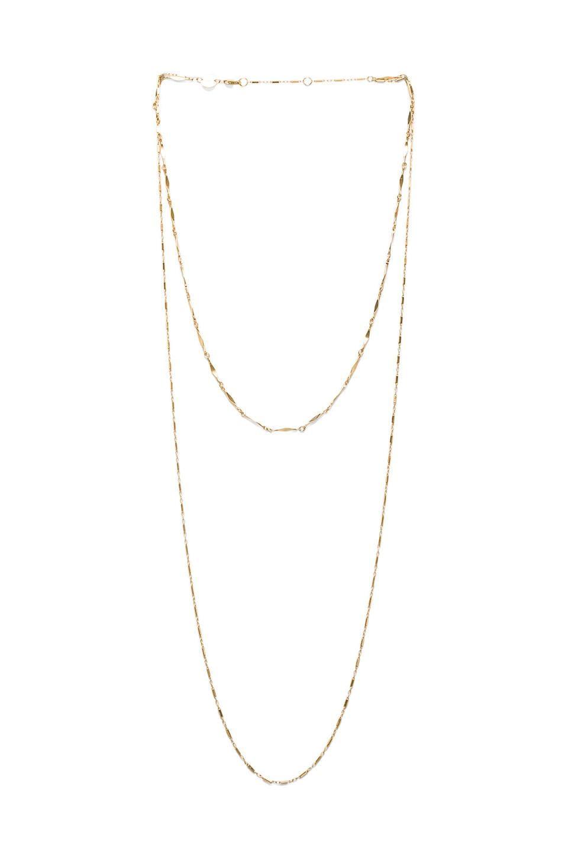 Jennifer Zeuner Asturia Double Necklace in Metallic Gold x3ge1Xox2N