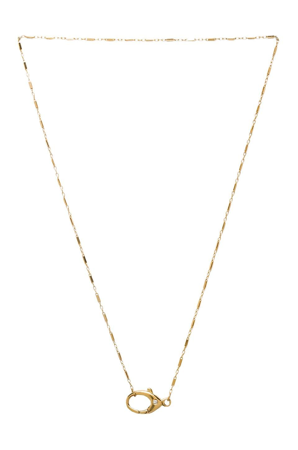 Jennifer Zeuner Harlow Clasp Necklace in Yellow