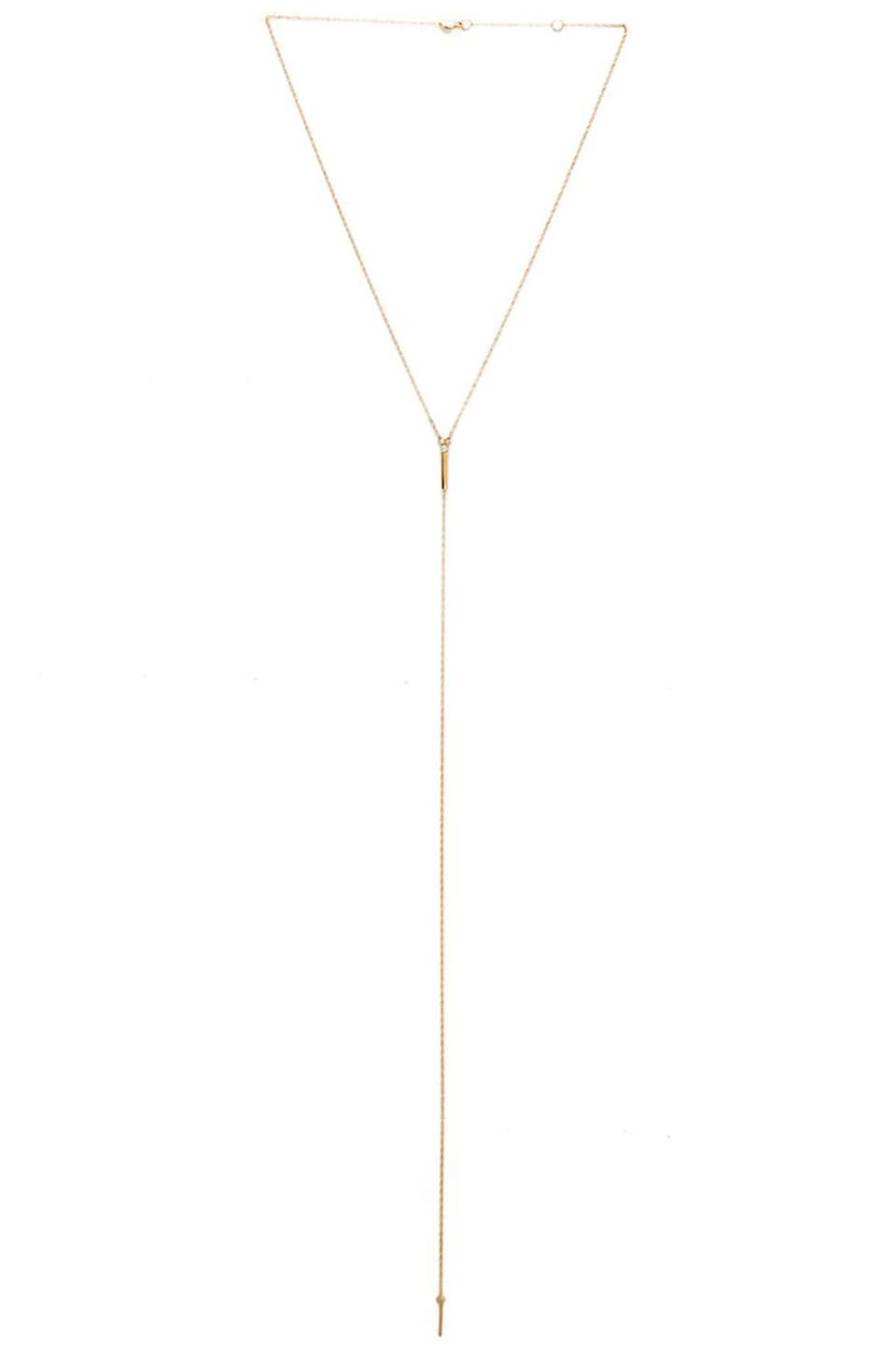 Jennifer Zeuner Pia Extended Necklace in Yellow Vermeil
