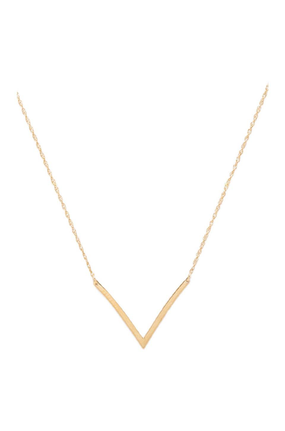 Jennifer Zeuner Bianca Small Necklace in Yellow Vermeil