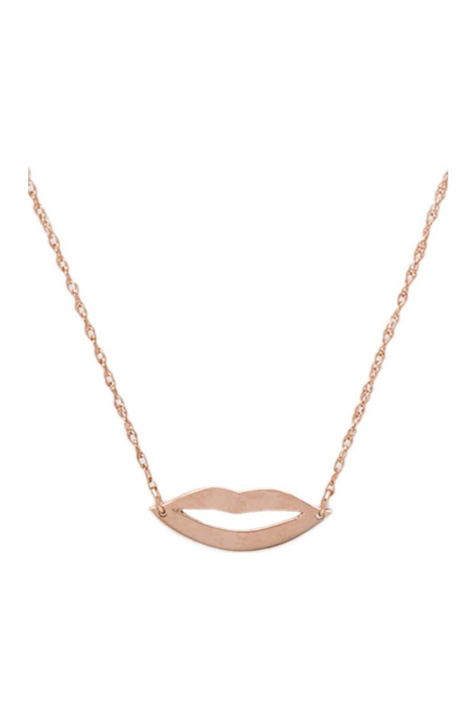 Jennifer Zeuner Lola Necklace in Rose Vermeil