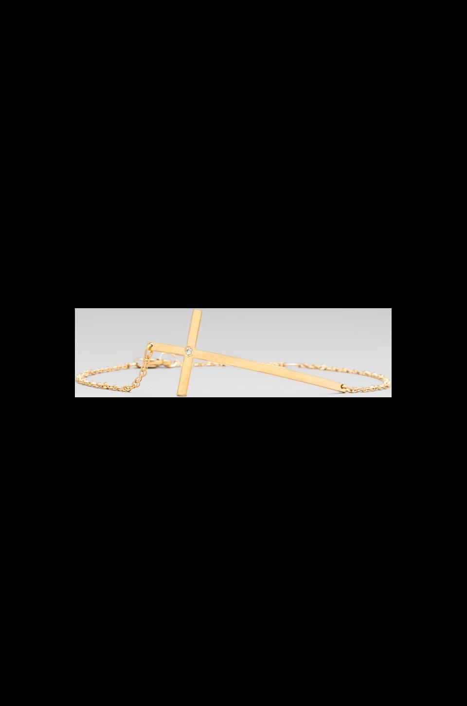 Jennifer Zeuner Cross Bracelet in Gold