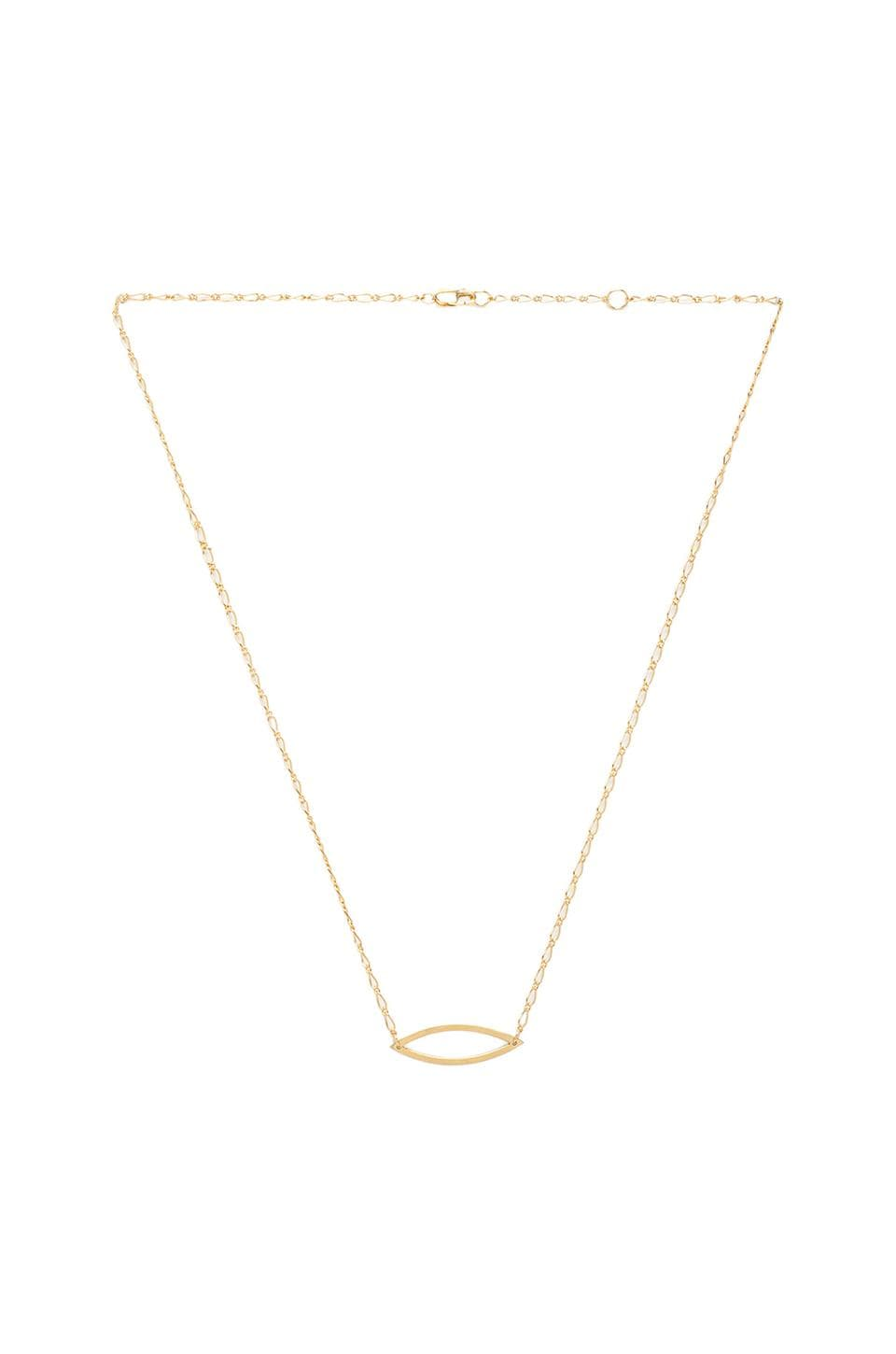 Jennifer Zeuner Greta Necklace in Yellow Vermeil
