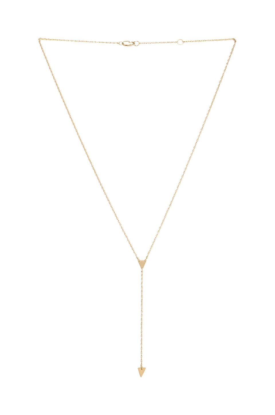 Jennifer Zeuner Kara Necklace in Yellow Vermeil