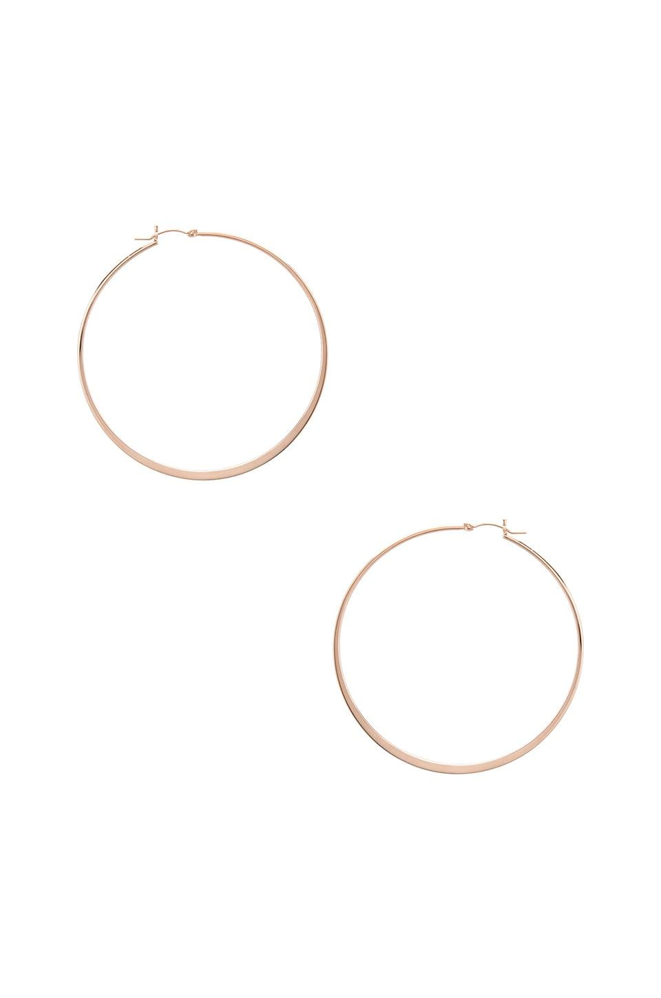 Jennifer Zeuner Olivia Hoop Earrings in Rosegold