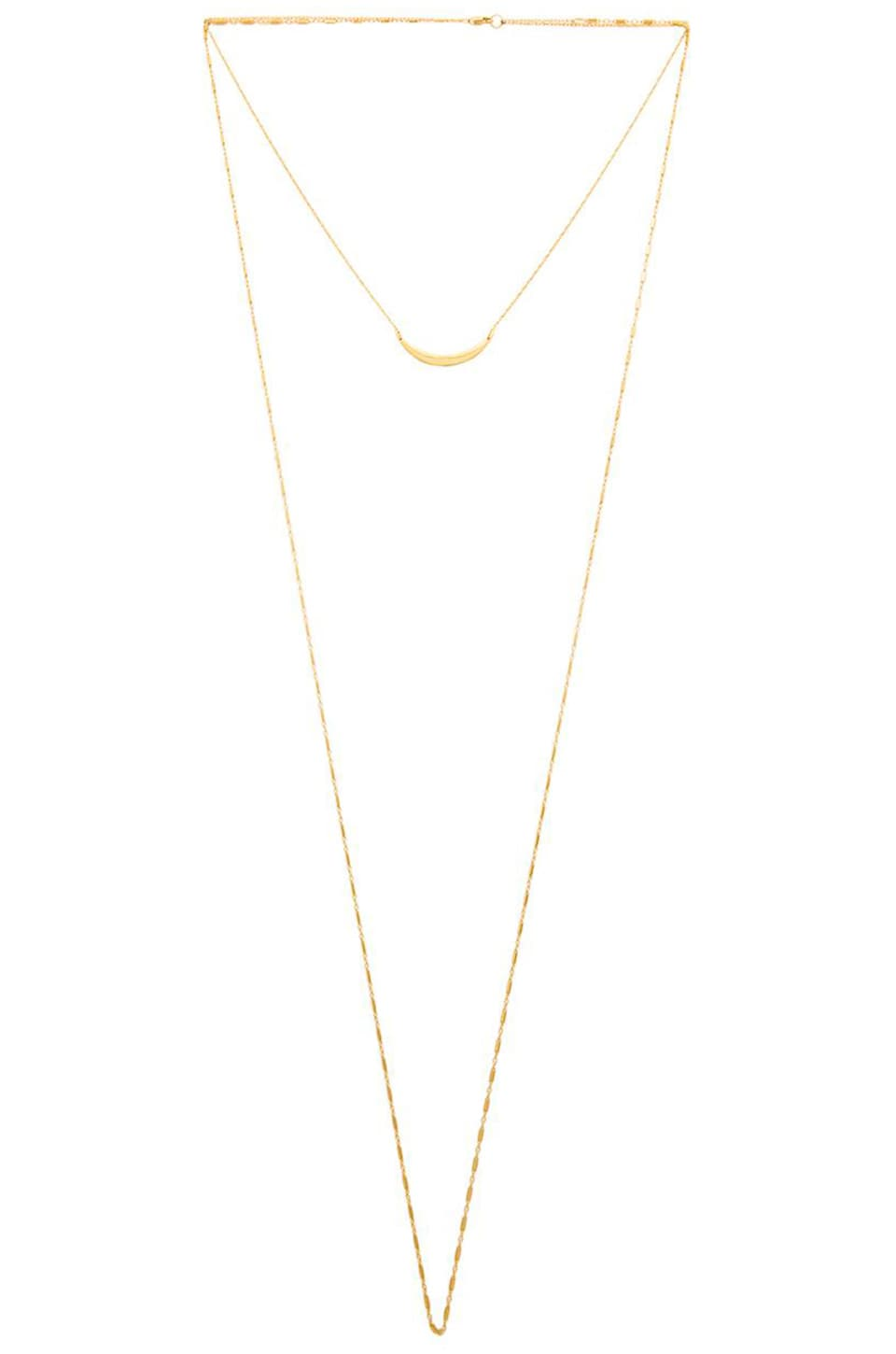 Jennifer Zeuner Pippa Necklace in Yellow Vermeil