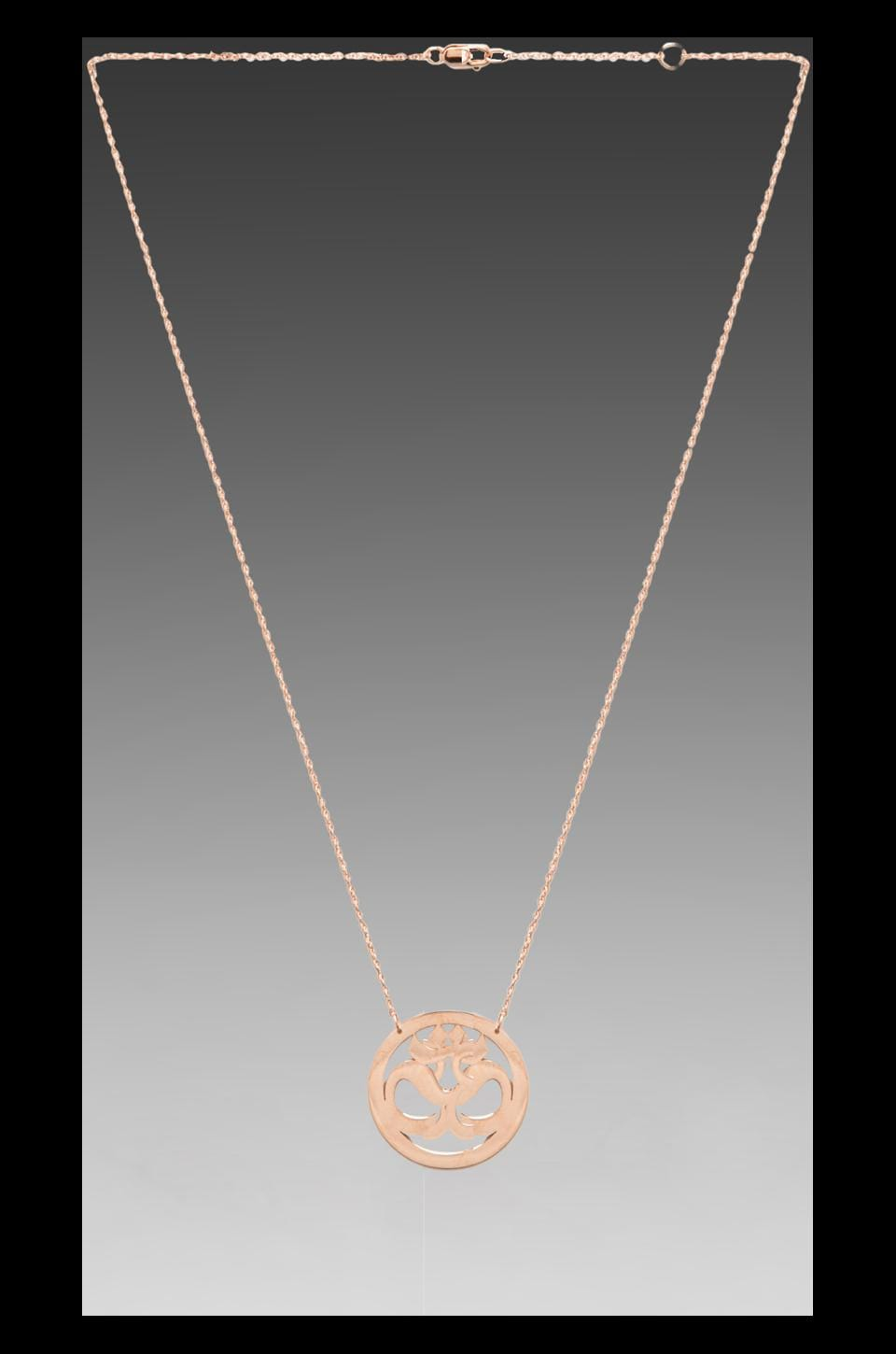 Jennifer Zeuner Om Necklace in Rosegold