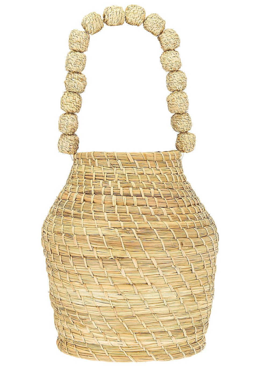 Kaanas x Jessie James Decker San Gil Bucket Bag in Natural