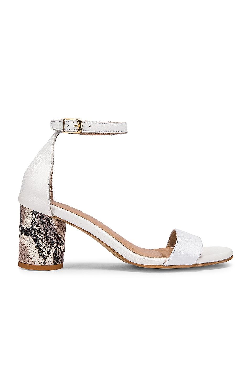 Kaanas Mindil Snake Sandal in White