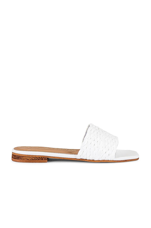 Kaanas Key Largo Braided Sandal in White