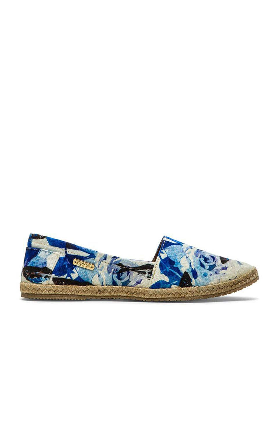 Kaanas St.. Lucia Espadrille in Roses Cyan